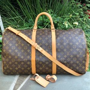 💯LV Keepall Bandouliere 55 •W/STRAP & ACCESSORIES